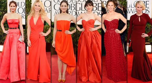 Golden Globes Red Dresses