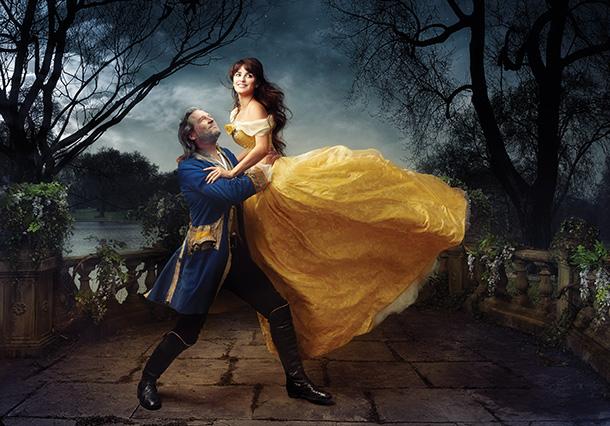 Jeff Bridges as the Beast and Penélope Cruz as Belle