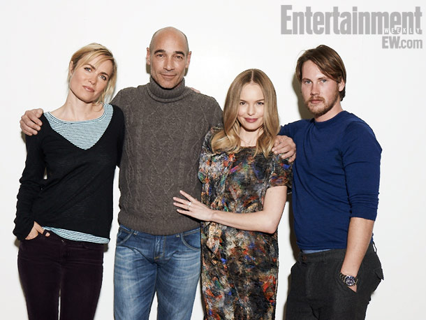 Radha Mitchell, Jean-Marc Barr, Kate Bosworth, and John Robinson, Big Sur
