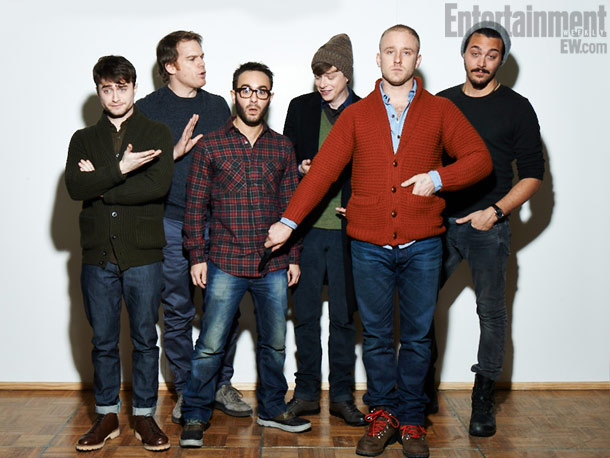 Daniel Radcliffe, Michael C. Hall, John Krokidas (director), Dane DeHaan, Ben Foster, and Jack Huston, Kill Your Darlings