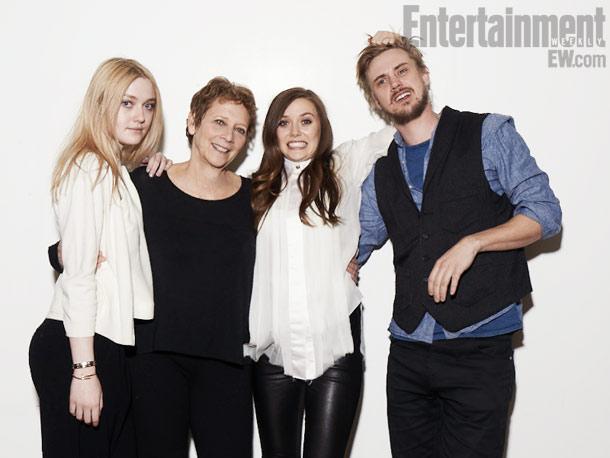 Dakota Fanning, Naomi Foner (director), Elizabeth Olsen, and Boyd Holbrook, Very Good Girls