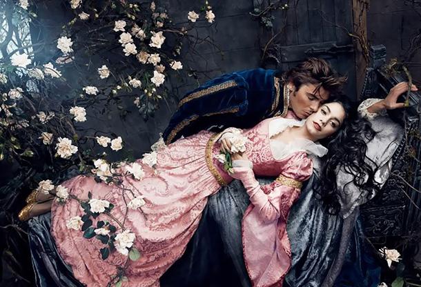 Vanessa Hudgens as Princess Aurora and Zac Efron as Prince Phillip