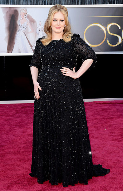 Style, Style: Red Carpet, ... | After trying her hand at a print ensemble , Adele is back to black — though that's not necessarily a good thing. The new mom…