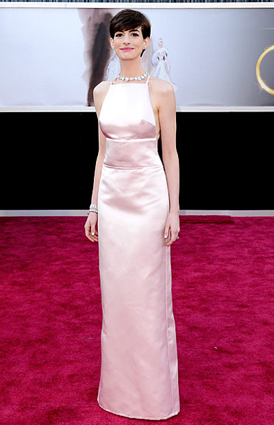 Style, Style: Red Carpet, ... | Hathaway may have picked up an award for Best Supporting Actress for her turn in Les Misérables , but her dress wasn't exactly best in…