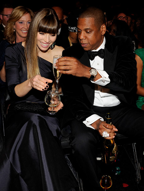 Jessica Biel and Jay-Z
