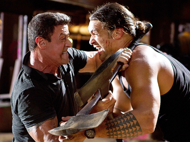 BULLET TO THE HEAD Sylvester Stallone and Jason Momoa