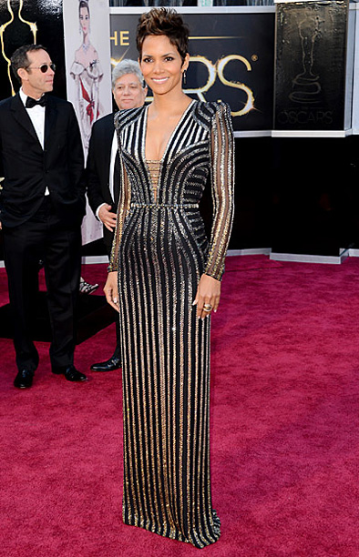 Style, Style: Red Carpet, ... | On the red carpet, Berry said she was trying to channel her inner Bond girl in this striking Versace gown. Mission accomplished. B+