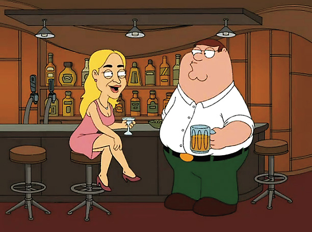 Family Guy | Nominated for: Best Supporting Actress, The Sessions Episode: ''McStroke'' (2008) The gag: After putting out a fire at a fast-food restaurant, Peter Griffin is rewarded…