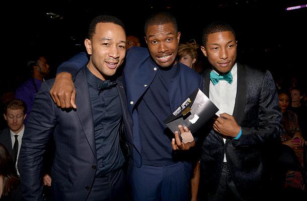 John Legend, Frank Ocean, and Pharrell Williams