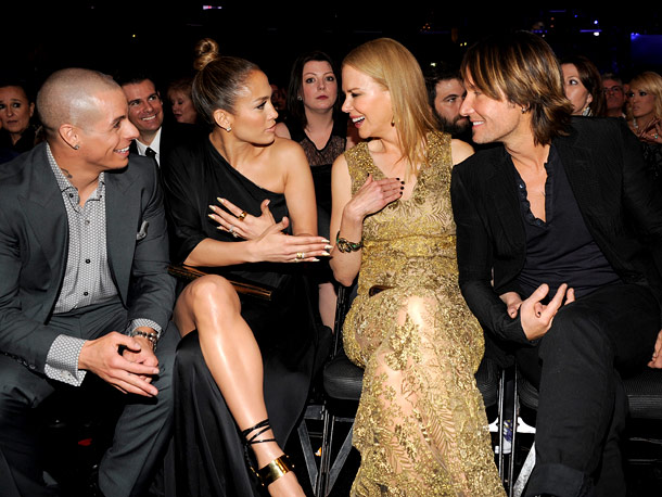 Casper Smart, Jennifer Lopez, Nicole Kidman, and Keith Urban