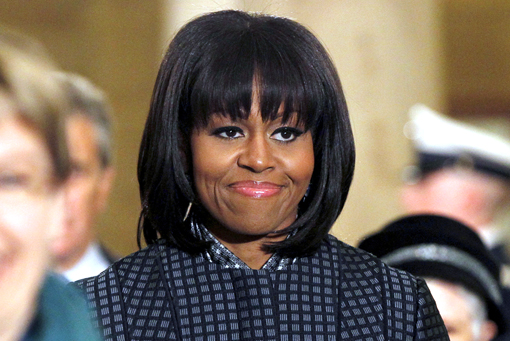 Michelleb Obama Bangs