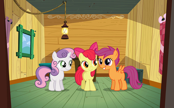 Applejack's little sister Apple Bloom and two of her best friends, Scootaloo and Sweetie Belle, form a club called the Cutie Mark Crusaders. These fillies…
