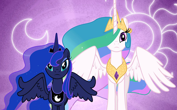 Princesses Luna and Celestia are in charge of raising the moon and the sun, respectively, in Equestria. Both are alicorns, or unicorns with wings, as…