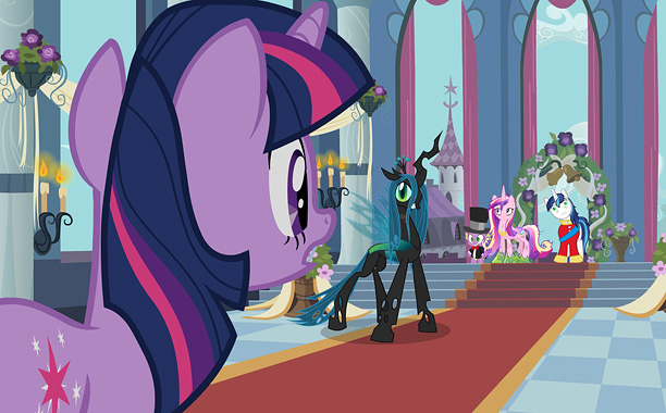 Finally, there's Queen Chrysalis, ruler of the Changelings — and the primary antagonist of last season's Royal Wedding episodes. Twilight and her friends managed to…