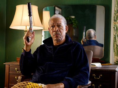 Morgan Freeman   Just because he usually plays benevolent presidents and Almighty Beings, doesn't mean Morgan Freeman can't bust a few heads when he wants to. In fact,…