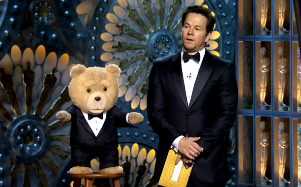 Cinema's raunchiest stuffed animal wangled his way into announcing two Oscar categories and crashing Jack Nicholson's ''big, post-Oscar orgy.'' What can we say? The bear…