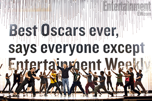 Entertainment Weekly's call-out with Channing Tatum, Charlize Theron, Seth McFarlane, Daniel Radcliffe, and Joseph Gordon-Levitt