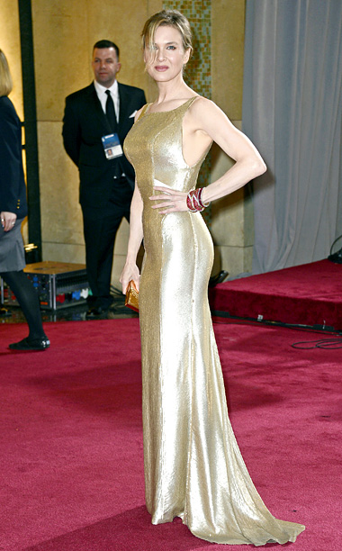 Style, Style: Red Carpet, ... | From the Bridget Jones hair to the boxy cut and fool's-gold shine of her Carolina Herrera dress, Zellweger's look is a top to bottom fashion…