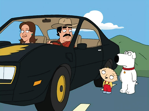 Family Guy | Nominated for: Best Supporting Actress, Lincoln Episode: ''Road to Rupert'' (2007) The gag: Searching for a lost teddy bear, Stewie and Brian hitch a ride…