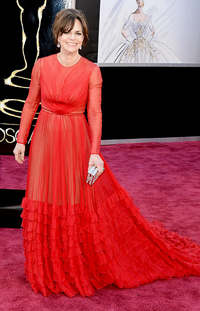 Style, Style: Red Carpet, ... | We like it, we really like it! The Lincoln actress looked anything but dated in this stunning long-sleeved chiffon gown by Valentino. A
