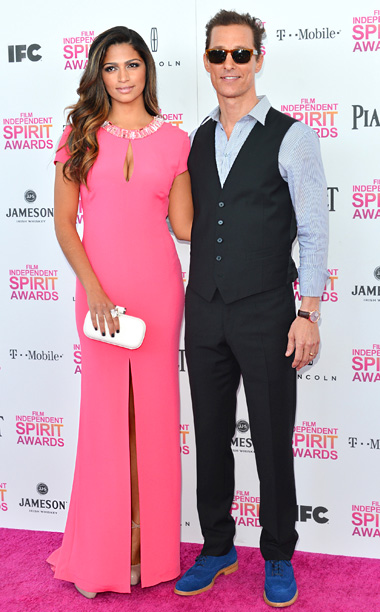 Matthew McConaughy and Camilla Alves in Escada