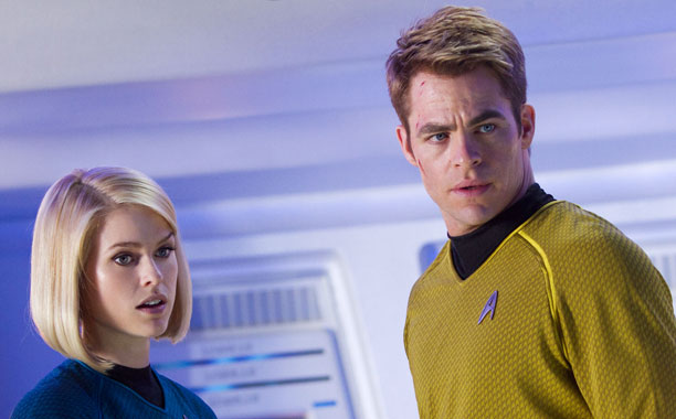 Carol (Alice Eve) and Capt. James T. Kirk (Chris Pine)