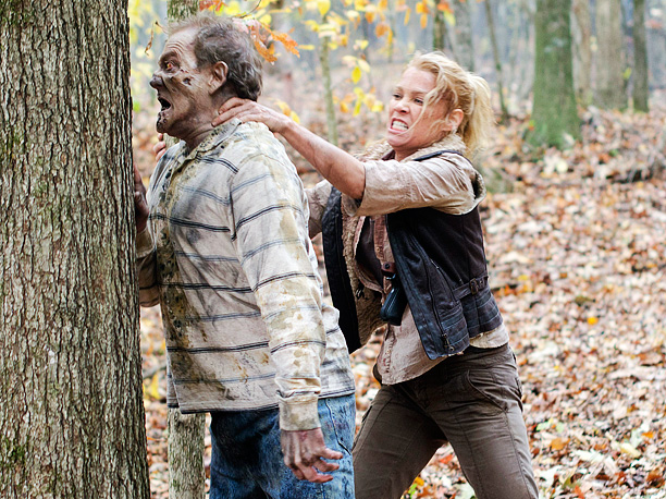 Andrea has come thisclose to dying in every season finale so far. She considered suicide in season 1 and almost got chomped in season 2.…