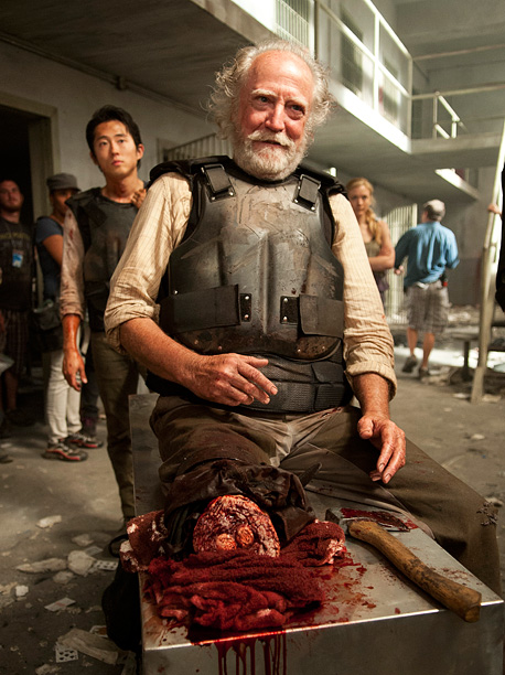 Hershel already lost a leg to the walkers. That earns him at least one full season of safety. Still, just because he'll be alive doesn't…