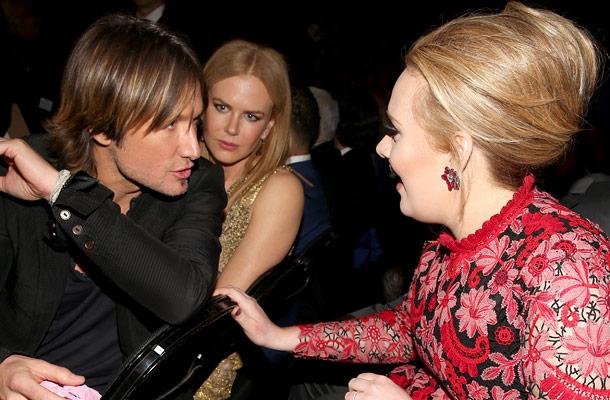 Keith Urban, Nicole Kidman, and Adele