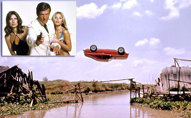 To rescue hapless fellow agent Goodnight (Britt Ekland), James Bond (Roger Moore) steals an AMC Hornet from a Bangkok dealership, crashing through the showroom's plate-glass…