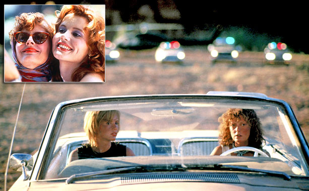 Not the fastest chase, but one of the most iconic. Pursued across the desert by seemingly every cop car in the southwestern United States, vacationers-turned-feminist…