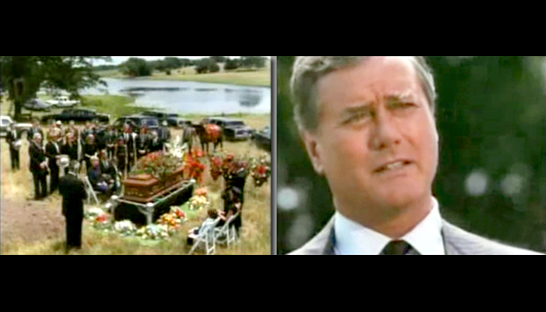 ''I wish I'd taken the time to tell you how much I love ya,'' said J.R. at Bobby's funeral in season 8. ''I do. Tell…