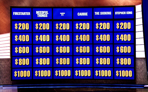 JEOPARDY STEPHEN KING