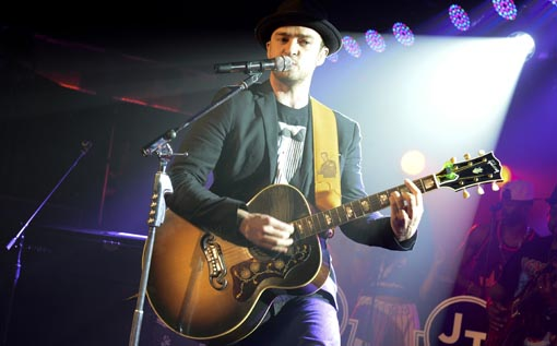 Justin Timberlake performs at Myspace Secret Show @ SXSW