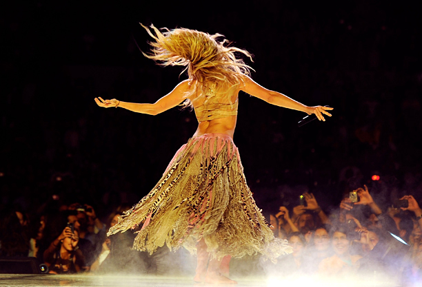 Shakira | It's more of a head-banging motion than a back-and-forth kind of thing.
