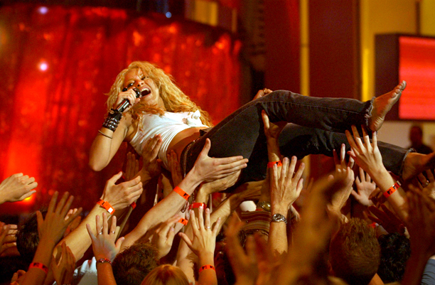 Shakira | Just remember to empty the loose change out of your pockets first.