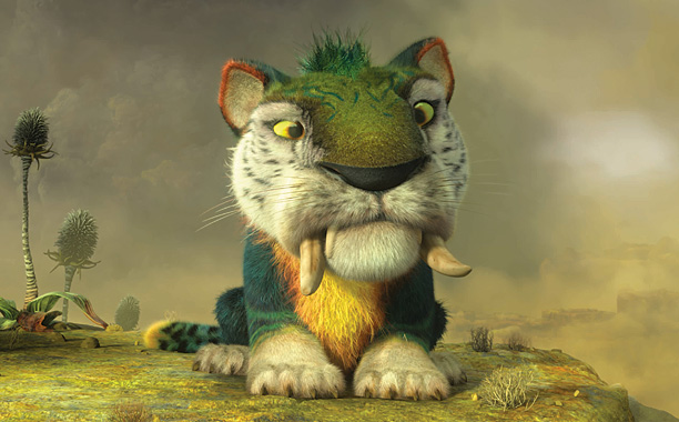 This brightly colored and large stalker has a surprise or two in store for the Croods.