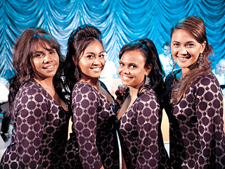 THE SAPPHIRES Deborah Mailman, Jessica Mauboy, Miranda Tapsell, and Shari Sebbens star alongside Chris O'Dowd