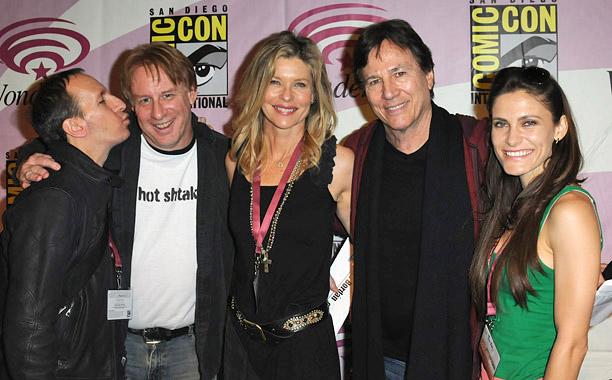 Michael Taylor, Kevin Grazier, Kate Vernon, Richard Hatch, and Lili Bordan (Battlestar Galactica; read our take on their Wondercon panel)