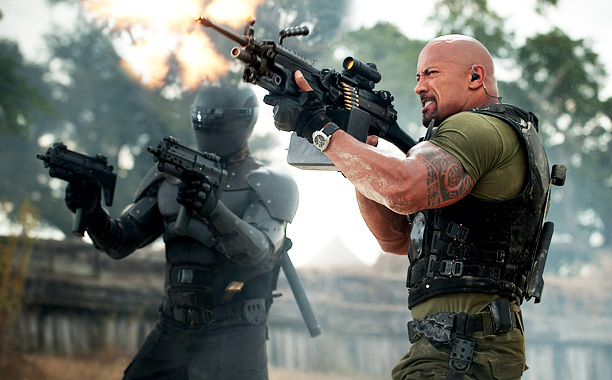 'GO JOE!' Ray Park plays Snake Eyes and Dwayne Johnson plays Roadblock in the sequel to G.I. Joe: The Rise of Cobra