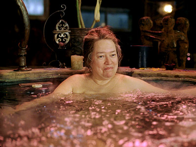 About Schmidt, Kathy Bates | This is one hot-tub scene that's, well, not so hot. But, as Roberta, Kathy Bates was impressively fearless when she stripped down for this bubbly…