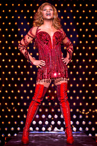 KINKY BOOTS Kick up your high heels for Cyndi Lauper's new musical and its infectious pop score (Billy Porter, in star-making role as drag queen…