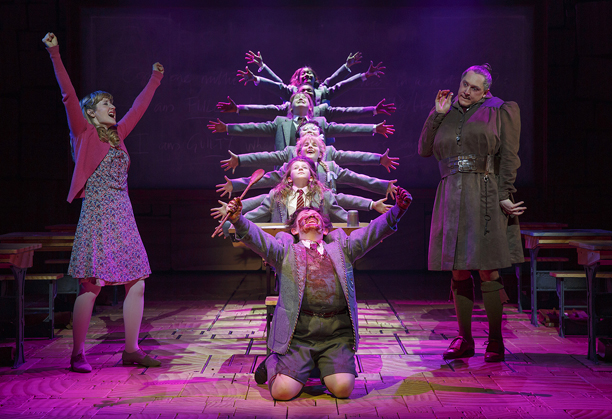 Roald Dahl's arch story about a telekinetic bookworm springs to joyous life in an ingeniously staged musical led by talented child actors who thankfully never…
