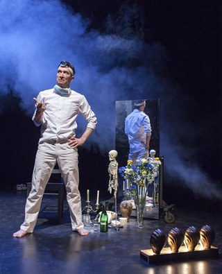 MAYDAY MAYDAY In a stark but funny one-man show, ''Brief Encounter'' star Tristan Sturrock recounts his recovery from a debilitating accident