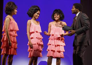 MOTOWN: THE MUSICAL Sydney Morton (Florence Ballard), Valisia Lekae (Diana Ross), Ariana DeBose (Mary Wilson), Brandon Victor Dixon (Berry Gordy)