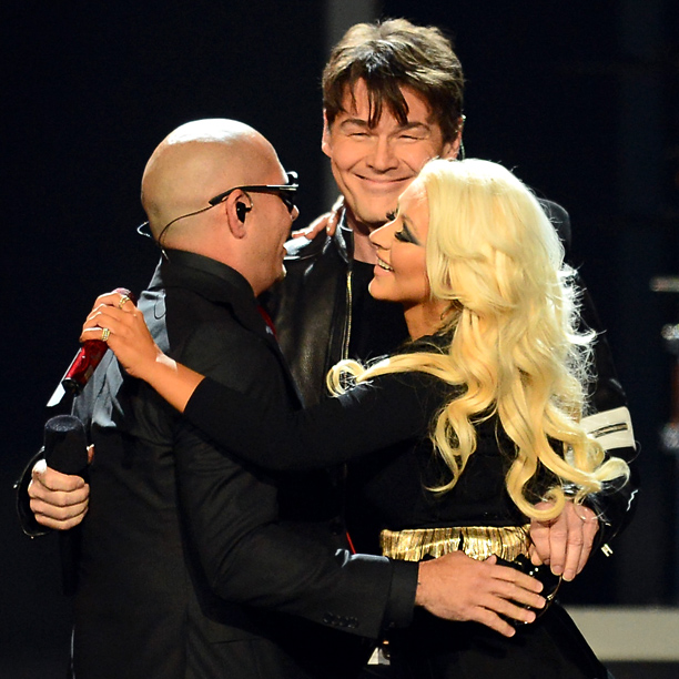 Billboard Awards Pitbull Aha Christina Aguilera
