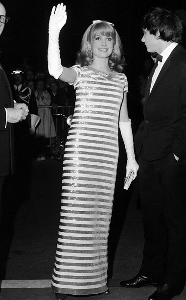 Style, Style: Red Carpet, ... | French actress Catherine Deneuve showed her stripes at the 1966 Cannes Film Festival in a sequined column gown paired with long gloves and youthful hair…