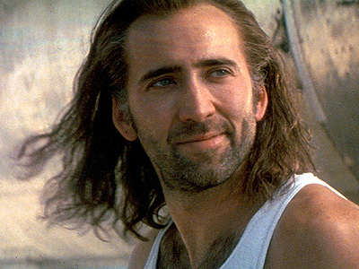 Nicolas Cage, Con Air | Forrest Gump + a mouth full of molasses x greasy Game of Thrones hair = Cage's Cameron Poe, a mumbly swamp creature who's supposedly from…