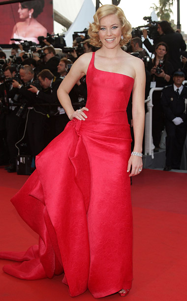 Style, Style: Red Carpet, ... | Elizabeth Banks donned a crimson one-shoulder gown from Armani Privé's spring 2009 haute couture collection to the premiere of Up .
