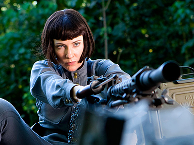 Cate Blanchett, Indiana Jones and the Kingdom of the Crystal Skull | Blanchett's Colonel Dr. Irina Spalko is supposedly searching for an alien cranium — but when she opens her mouth, it sounds more like she's trying…